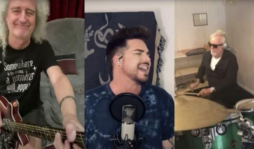 """Urmărește-i pe Queen și Adam Lambert cântând """"We Are The Champions"""" (varianta de carantină)"""