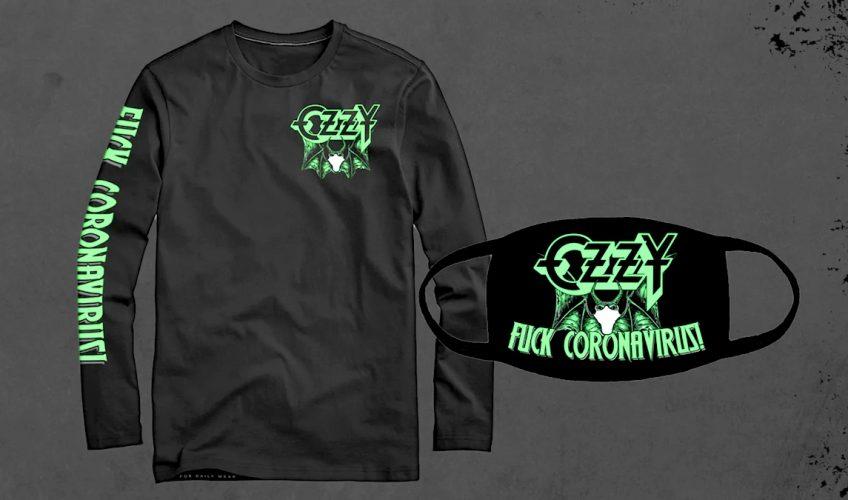 """Ozzy Osbourne vinde tricouri și măști cu lilieci și mesajul """"Fuck Coronavirus!"""""""
