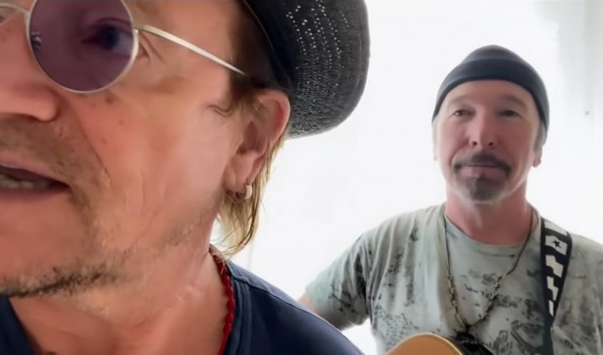 """(VIDEO) Urmărește-i pe Bono și The Edge cântând """"Stairway To Heaven"""""""