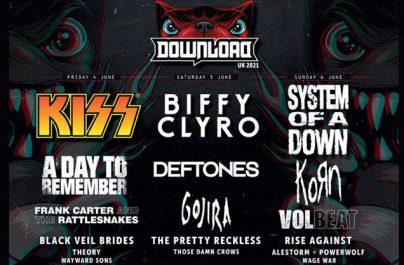 Kiss, Biffy Clyro și System of A Down, cap de afiș la festivalul Download de anul viitor