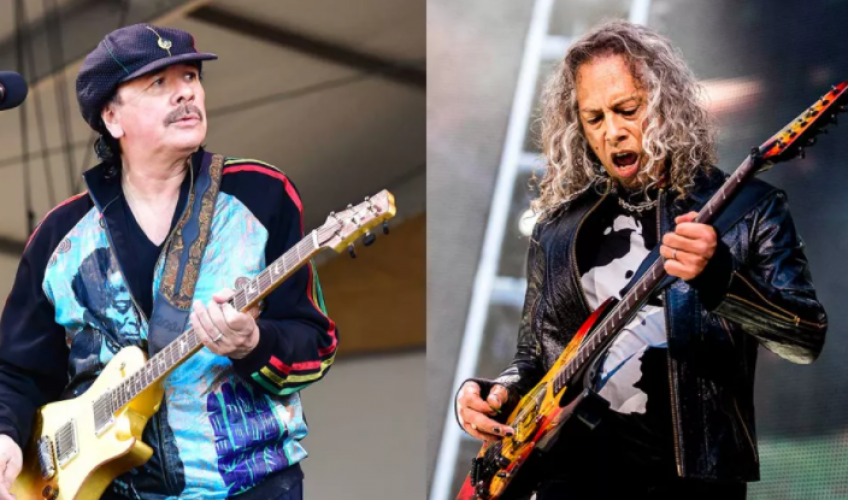 Kirk Hammett va apărea pe viitorul album al lui Santana